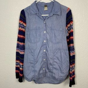 Free People Button Down Sweater Arms Medium